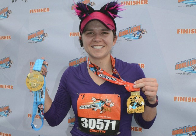 Outside of our Castle Rock veterinary clinic, you'll find Dr. Christin running in races.