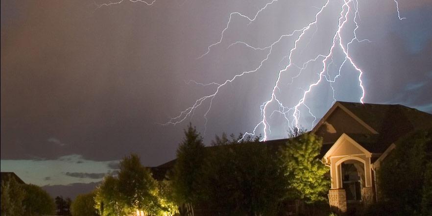 A thunderstorm over Castle Rock, Colorado