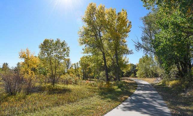 The East Plum Creek Trail meanders its way through Castle Rock, Colorado.
