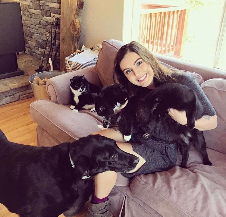 Julia and pet